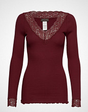 Rosemunde Organic T-Shirt V-Neck Regular Ls W T-shirts & Tops Long-sleeved Rød ROSEMUNDE