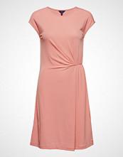 Gant O2. Waist Detail Dress Knelang Kjole Rosa GANT