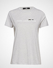 Karl Lagerfeld Ikonik & Logo T-Shirt T-shirts & Tops Short-sleeved Grå KARL LAGERFELD