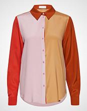 Stine Goya Maxwell, 467 Heavy Silk Langermet Skjorte Rosa STINE GOYA