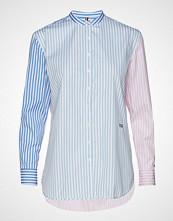 Tommy Hilfiger Th Essential Girlfriend Shirt Ls Langermet Skjorte Blå TOMMY HILFIGER