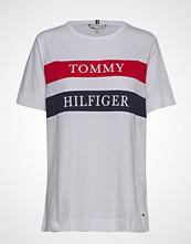 Tommy Hilfiger Lula C-Nk Tee Ss, Ya T-shirts & Tops Short-sleeved Hvit TOMMY HILFIGER