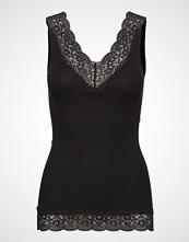 Rosemunde Organic Top V-Neck Regular W/Lace T-shirts & Tops Sleeveless Svart ROSEMUNDE