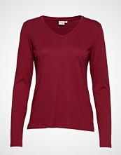 Cream Naia Long Sleeve T-Shirt T-shirts & Tops Long-sleeved Rød CREAM