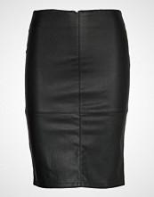 Only Onlcelina Faux Leather Midi Skirt Otw Knelangt Skjørt Svart ONLY