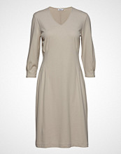 Filippa K Pleat Waist Dress Knelang Kjole Beige FILIPPA K