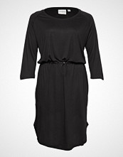 Junarose Jrzakas 3/4 Sleeve Below Knee Dress - S Knelang Kjole Svart JUNAROSE