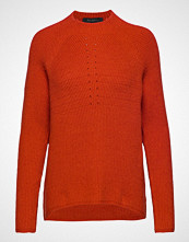 Soft Rebels Mille T-Neck Knit Strikket Genser Oransje SOFT REBELS