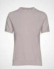 Andiata Josefa Ss Cashmere Knit T-shirts & Tops Short-sleeved Rosa ANDIATA