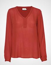 Kaffe Amber L/S Blouse- Min 2 T-shirts & Tops Long-sleeved Rød KAFFE