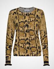 Coster Copenhagen Sweater In Pyton Print Strikket Genser Gul COSTER COPENHAGEN