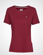 Tommy Jeans Tjw Soft Jersey Tee T-shirts & Tops Short-sleeved Rød Tommy Jeans