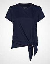 Banana Republic Ss Tie Hem Supima Crew W Ringer T-shirts & Tops Short-sleeved Blå BANANA REPUBLIC