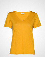 Vila Vinoel S/S V-Neck T-Shirt- Fav T-shirts & Tops Short-sleeved Gul VILA