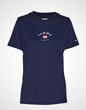 Tommy Jeans Tjw Essential Americ T-shirts & Tops Short-sleeved Blå TOMMY JEANS