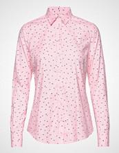 The Broadcloth Gingham Shirt Langermet Skjorte Rosa GANT