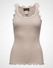 Rosemunde Silk Top Regular W/Vintage Lace T-shirts & Tops Sleeveless Beige ROSEMUNDE