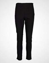 Saint Tropez U5011, Woven Pants Long Bukser Med Rette Ben Svart SAINT TROPEZ