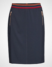 Betty Barclay Skirt Medium Length Classic Knelangt Skjørt Blå BETTY BARCLAY