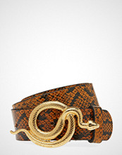 Notes du Nord Milo Leather Belt Snake Belte Brun NOTES DU NORD