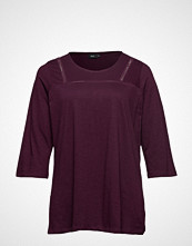 Zizzi Mholly, 3/4, Top T-shirts & Tops Long-sleeved Lilla ZIZZI