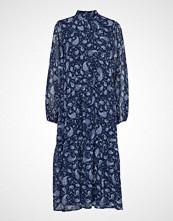Vila Vimedova L/S Ankle Dress Knelang Kjole Blå VILA