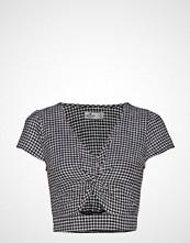 Hollister Ultra Crop Twist Front Top Bluse Kortermet Svart HOLLISTER