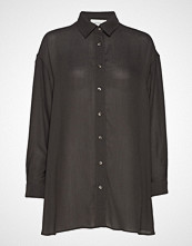 American Vintage Azulay Langermet Skjorte Svart AMERICAN VINTAGE