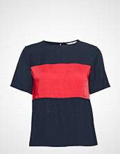 Tommy Hilfiger Frances Top Ss T-shirts & Tops Short-sleeved Blå TOMMY HILFIGER