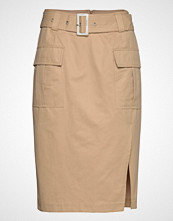 Notes du Nord Mia Skirt Knelangt Skjørt Beige NOTES DU NORD