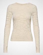 Casall Seamless Structure Long Sleeve T-shirts & Tops Long-sleeved Creme CASALL