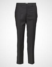 Filippa K Emma Cropped Cool Wool Trouser Bukser Med Rette Ben Svart FILIPPA K