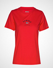 Tommy Jeans Tjw Essential Americ T-shirts & Tops Short-sleeved Rød TOMMY JEANS