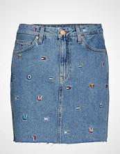 Tommy Jeans Short Denim Skirt Gr Kort Skjørt Blå TOMMY JEANS
