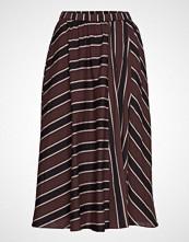 Moshi Moshi Mind Ceres Skirt Autumn Stripe Knelangt Skjørt Brun MOSHI MOSHI MIND
