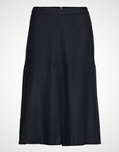 Gant D1. Washable Stretch Wool Skirt Knelangt Skjørt Blå GANT