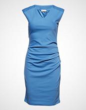 Kaffe India V-Neck Dress Knelang Kjole Blå KAFFE