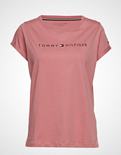 Tommy Hilfiger Rn Tee Ss Logo T-shirts & Tops Short-sleeved Rosa TOMMY HILFIGER