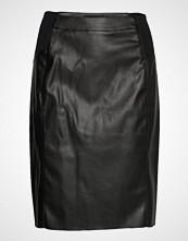 Vero Moda Vmbuttersia Hw Coated Skirt Noos Kort Skjørt Svart VERO MODA