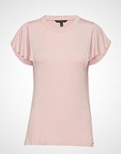 Banana Republic Ss Soft Stretch Flounce Slv Tee T-shirts & Tops Short-sleeved BANANA REPUBLIC