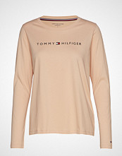 Tommy Hilfiger Cn Tee Ls Logo T-shirts & Tops Long-sleeved Beige TOMMY HILFIGER