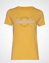 Hollister Tech Core Tee T-shirts & Tops Short-sleeved Gul HOLLISTER