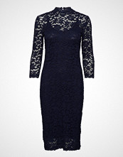 Rosemunde Dress 3/4 S Knelang Kjole Blå ROSEMUNDE