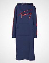 Tommy Jeans Tjw Varsity Hoodie D Knelang Kjole Blå TOMMY JEANS