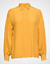 Gant D2. Drapy Puff Sleeve Shirt Langermet Skjorte Gul GANT
