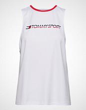 Tommy Sport Open Back Tape Tank T-shirts & Tops Sleeveless Hvit TOMMY SPORT