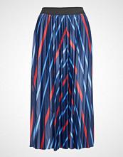 Fransa Fremgrafic 1 Skirt Knelangt Skjørt Blå FRANSA