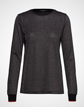 Scotch & Soda Lurex Long Sleeve Tee With Rib Details T-shirts & Tops Long-sleeved Svart SCOTCH & SODA