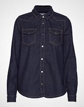 Minus Lau Denim Shirt Langermet Skjorte Blå MINUS