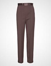 Soaked in Luxury Sl Beatrix Pants Bukser Med Rette Ben Brun SOAKED IN LUXURY